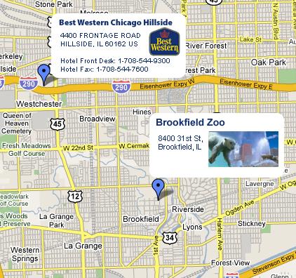 Brookfield Zoo - Chicago Hillside Hotel